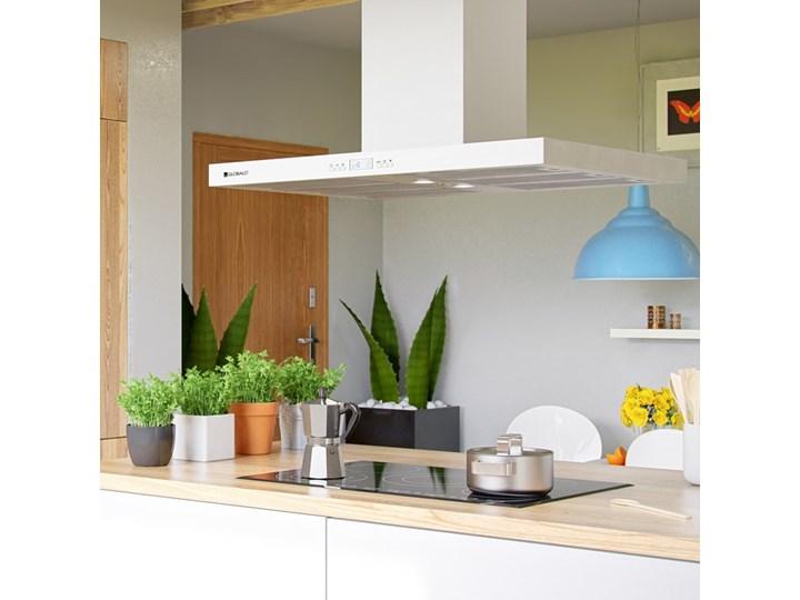 Okap kuchenny Nomina Isola 90.4 Sensor White Okap wyspowy Szerokość 90 cm Kolor Biały