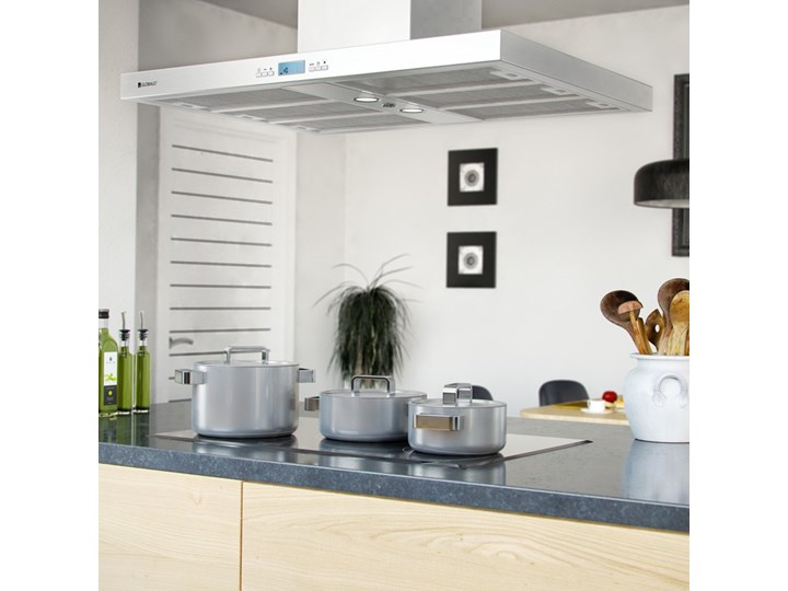 Okap kuchenny Nomina Isola 90.4 Sensor Okap wyspowy Szerokość 90 cm Poziom hałasu 70 dB