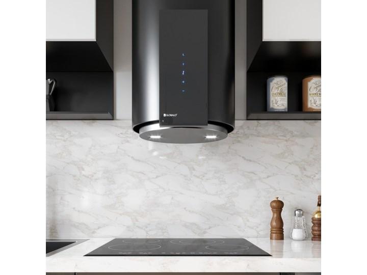 Okap kuchenny Roxano 39.1 Black Okap przyścienny Poziom hałasu 68 dB Poziom hałasu 63 dB