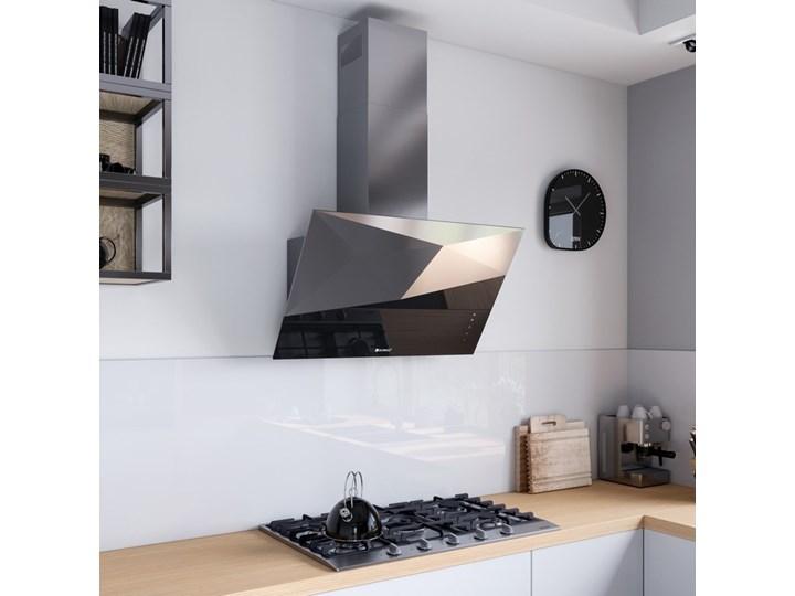 Okap kuchenny Rendero 90.1 Black Okap przyścienny Poziom hałasu 63 dB