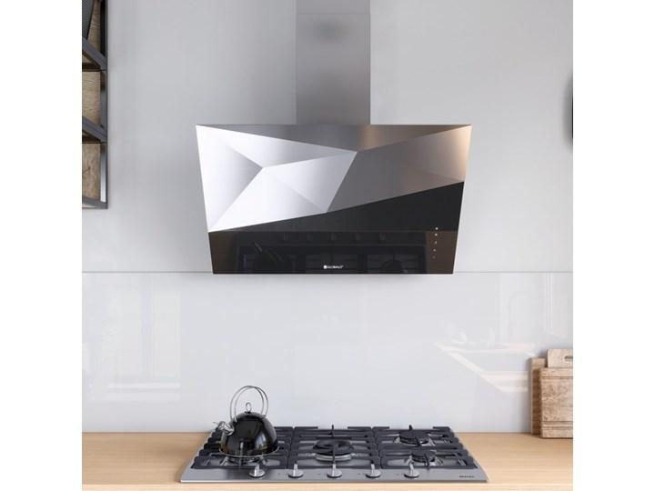 Okap kuchenny Rendero 90.1 Black Okap przyścienny Poziom hałasu 67 dB