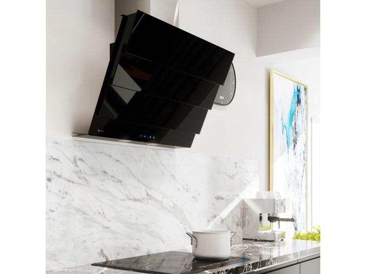 Okap kuchenny Softedo 90.1 Black Okap przyścienny Szerokość 90 cm Poziom hałasu 62 dB
