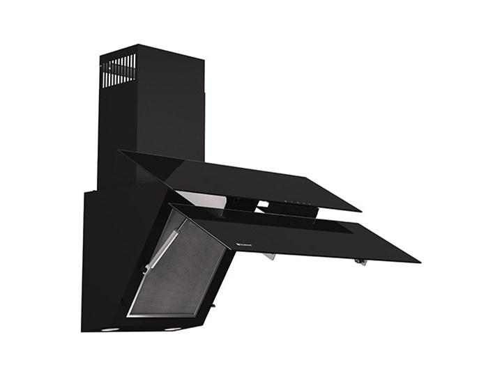 Okap kuchenny Womero 60.1 Black Kolor Czarny Okap przyścienny Sterowanie Elektroniczne