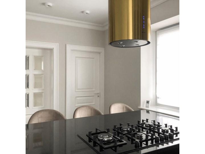 Okap kuchenny Cylindro Isola 39.5 Gold Okap wyspowy Sterowanie Elektroniczne Okap przyścienny Poziom hałasu 66 dB