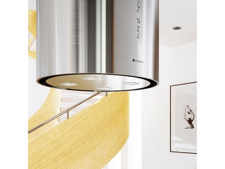 Okap kuchenny Asterio Isola 39.1 Inox Okap wyspowy Poziom hałasu 62 dB Okap przyścienny Sterowanie Elektroniczne
