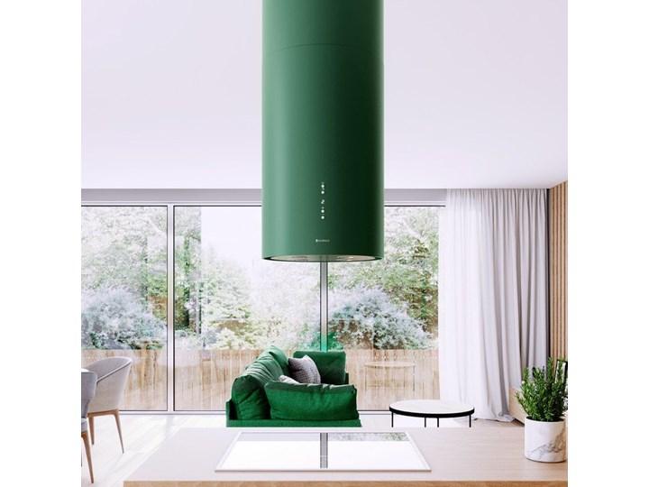 Okap kuchenny Cylindro Isola 39.5 Green Okap wyspowy Okap przyścienny Sterowanie Elektroniczne Poziom hałasu 66 dB