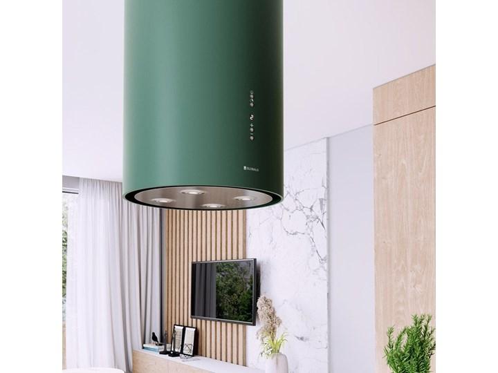 Okap kuchenny Cylindro Isola 39.5 Green Okap wyspowy Okap przyścienny Kolor Zielony