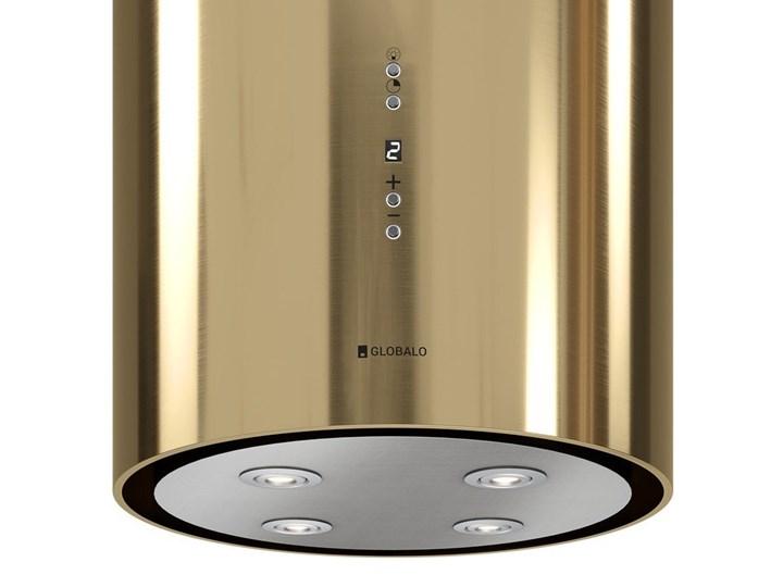 Okap kuchenny Cylindro Isola 39.5 Light Gold Okap przyścienny Okap wyspowy Poziom hałasu 46 dB
