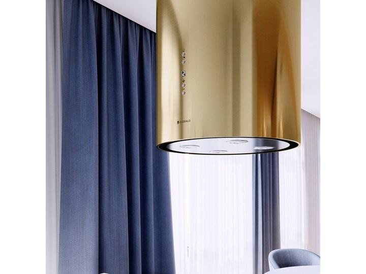 Okap kuchenny Cylindro Isola 39.5 Light Gold Poziom hałasu 46 dB Okap wyspowy Okap przyścienny Kategoria Okapy