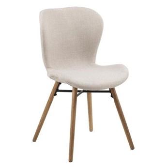 Krzesło jadalniane na drewnianych nogach Hudson