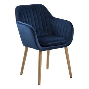 Tapicerowane krzesło na dębowych nogach Bristol VIC Velvet