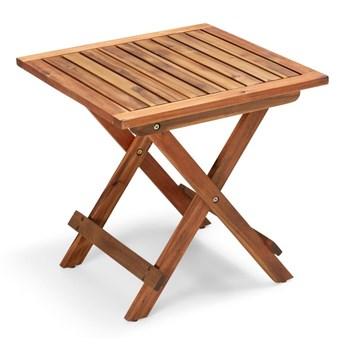 Składany ogrodowy stolik z drewna akacji Le Bonom Diego, dł. 50 cm