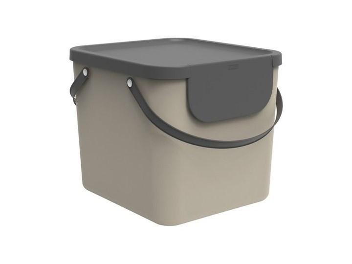 Kosz do segregacji Rotho Albula 40L cappuccino Tworzywo sztuczne Pojemność 40 l Kosz uchylny Kategoria Kosze na śmieci