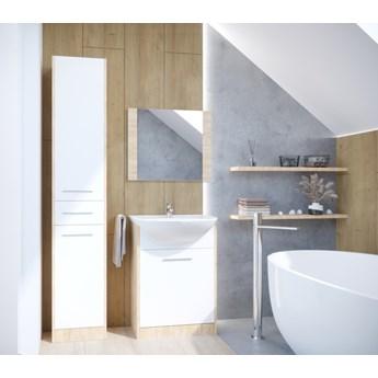 Łazienka NICO LONG dąb artisan / biały laminat