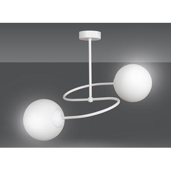 SELBI 2 WHITE 735/2 oryginalna lampa sufitowa biała LOFT szklane mleczne klosze