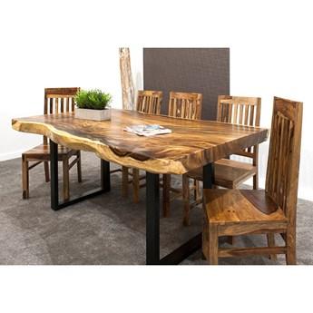 280cm OKAZAŁY stół drewniany jadalniany SUAR WOOD 280/~85-115. Waga ok. 240kg!
