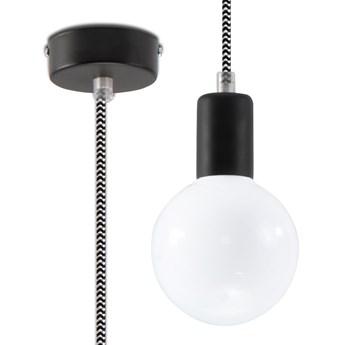 SOLLUX Piękny Minimalizm! Lampa wisząca EDISON Czarno-biała Zwis