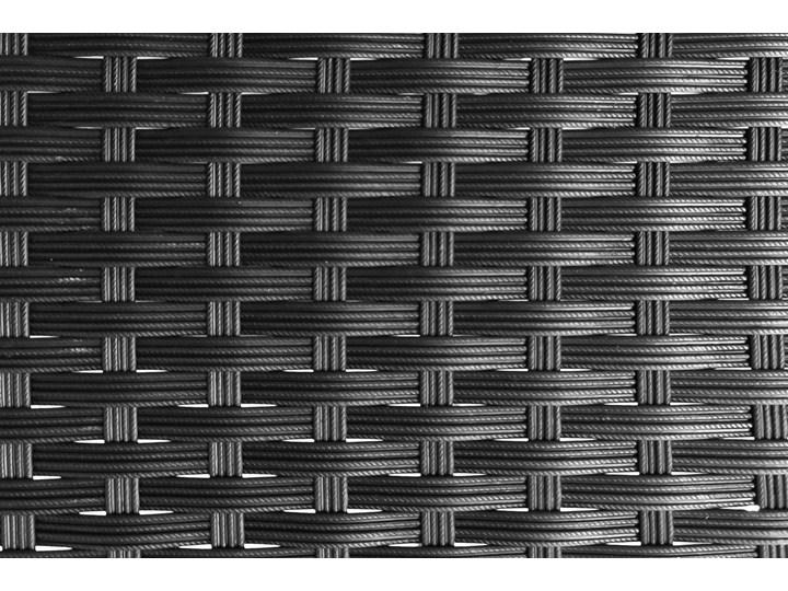 MEBLE OGRODOWE DUŻY ZESTAW  Z TECHNORATTANU - 1043 CZARNY Zestawy wypoczynkowe Kategoria Zestawy mebli ogrodowych