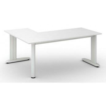 Biurko Flexible L 1800 x 1400 mm, biały