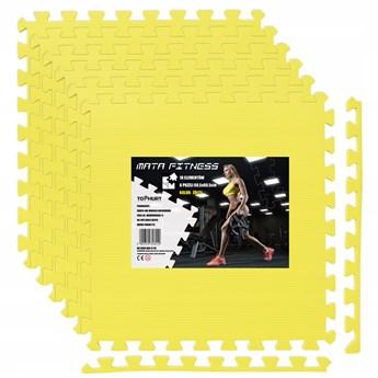 Mata ochronna FITNESS - 6 szt - żółta