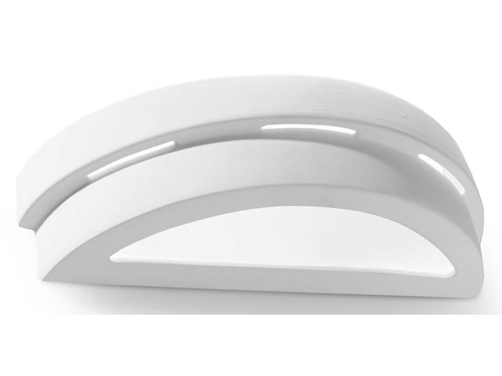 SOLLUX Efektowna lampa ścienna półokrągły kinkiet ceramiczny HELIOS Kinkiet LED Ceramika Kinkiet łazienkowy Szkło Kinkiet dekoracyjny Styl Nowoczesny