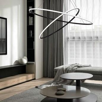MCODO ::  Nowoczesna lampa led GALAXY X2 czarna o mocy 71W barwa ciepła 3000K