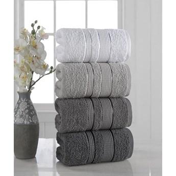 Zestaw 4 ręczników Pure Cotton Gray, 50x85 cm