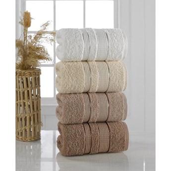 Zestaw 4 ręczników Pure Cotton Brown, 50x85 cm