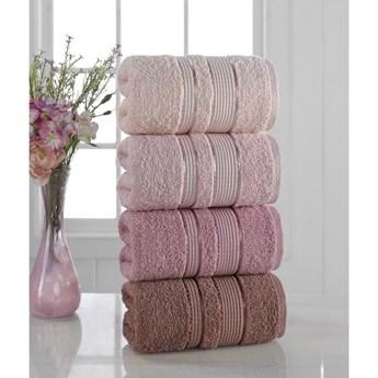 Zestaw 4 ręczników Pure Cotton Powder, 50x85 cm