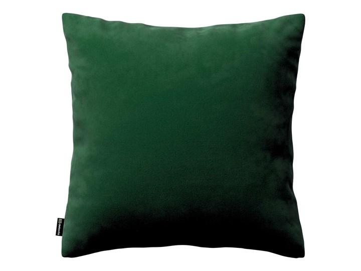Poszewka Kinga na poduszkę, butelkowa zieleń, 43 × 43 cm, Velvet 45x45 cm Poliester 60x60 cm Kwadratowe 43x43 cm 50x50 cm Prostokątne 40x60 cm Poszewka dekoracyjna 45x65 cm Wzór Jednolity