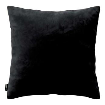 Poszewka Kinga na poduszkę, głęboka czerń, 43 × 43 cm, Velvet