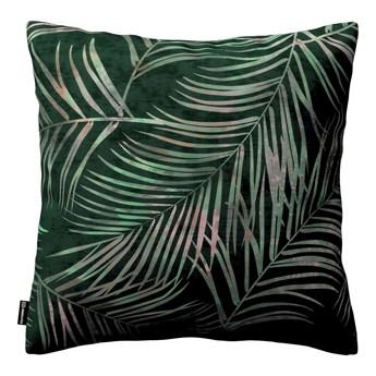 Poszewka Kinga na poduszkę, zielony w liście, 43 × 43 cm, Velvet