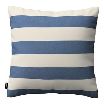 Poszewka Kinga na poduszkę, niebiesko - białe pasy (5,5cm), 43 × 43 cm, Quadro