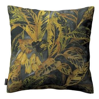 Poszewka Kinga na poduszkę, rdzawo-żółte liście na ciemnym tle, 43 × 43 cm, Abigail