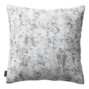 Poszewka Kinga na poduszkę, szaro-biały, 43 × 43 cm, Velvet