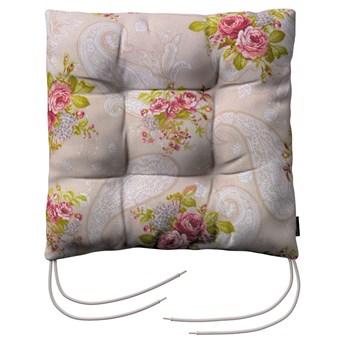 Siedzisko Jacek na krzesło, róże na jasno beżowym tle, 38 × 38 × 8 cm, do -50%