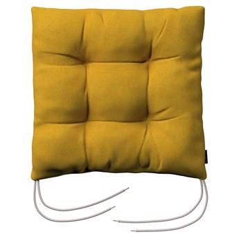 Siedzisko Jacek na krzesło, musztardowy szenil, 38 × 38 × 8 cm, Etna