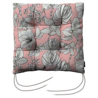 Siedzisko Jacek na krzesło, białe kwiaty na różowym tle, 38 × 38 × 8 cm, do -50%