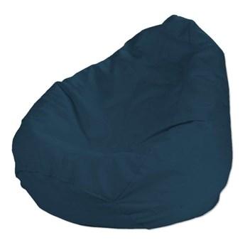 Worek do siedzenia, Ocean Blue (morski niebieski), Ø50 × 85 cm, Cotton Panama