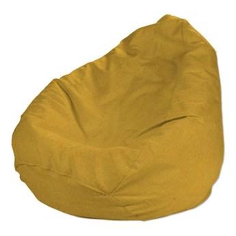 Worek do siedzenia, musztardowy szenil, Ø50 × 85 cm, Etna