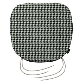 Siedzisko Bartek na krzesło, czarno-biała pepitka, 40 × 37 × 2,5 cm, Black & White