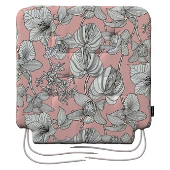 Siedzisko Olek na krzesło, białe kwiaty na różowym tle, 42 × 41 × 3,5 cm, do -50%
