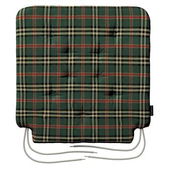 Siedzisko Olek na krzesło, zielono - czerwona kratka, 42 × 41 × 3,5 cm, Bristol