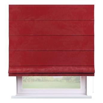 Roleta rzymska Capri, intensywna czerwień, szer.80 × dł.170 cm, Velvet