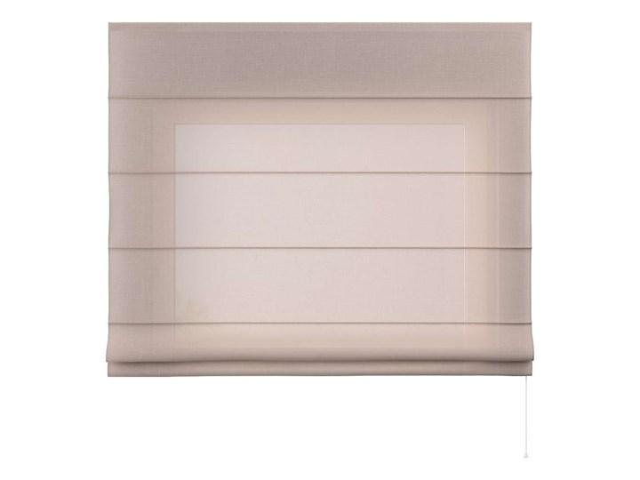 Roleta rzymska Capri, prześwitująca beżowa, szer.80 × dł.170 cm, Romantica Pomieszczenie Salon Typ Roleta transparentna