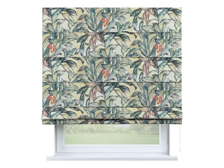 Roleta rzymska Capri, liście w odcieniach zieleni, niebieskiego, czerwieni na beżowym tle, szer.80 × ...