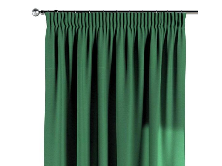Zasłona na taśmie marszczącej 1 szt., butelkowa zieleń, 1szt 130 × 260 cm, Loneta 130x260 cm Bawełna Poliester Zasłona zaciemniająca Wzór Gładkie