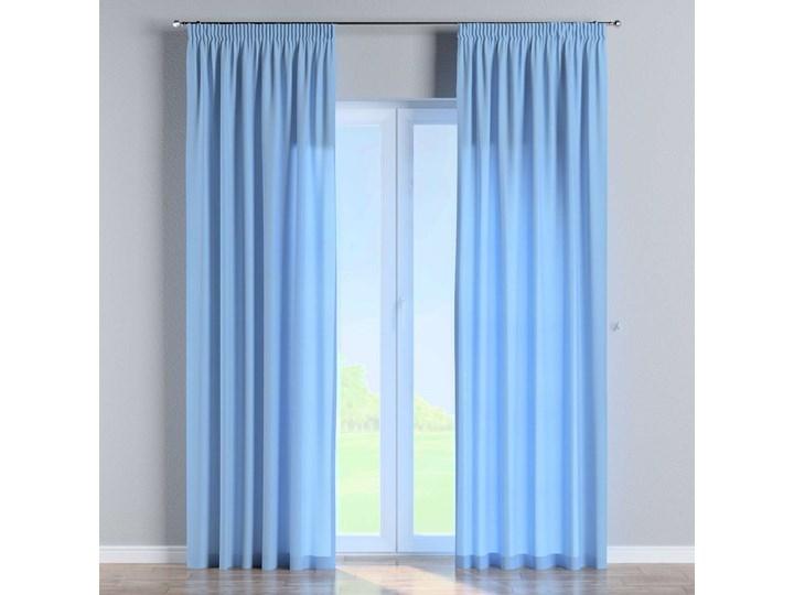 Zasłona na taśmie marszczącej 1 szt., niebieski, 1szt 130 × 260 cm, Loneta Poliester 130x260 cm Zasłona zaciemniająca Bawełna Mocowanie