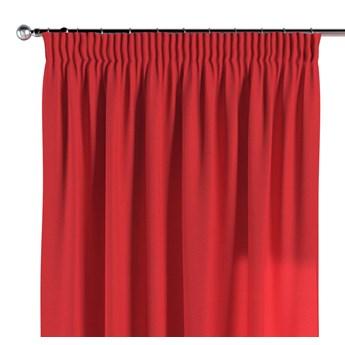 Zasłona na taśmie marszczącej 1 szt., czerwony, 1szt 130 × 260 cm, Loneta