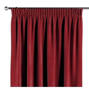 Zasłona na taśmie marszczącej 1 szt., intensywna czerwień, 1szt 130 × 260 cm, Velvet